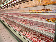 220px meat packages in a roman supermarket